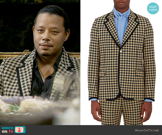 Gucci Houndstooth Two-Button Sportcoat worn by Terrence Howard on Empire