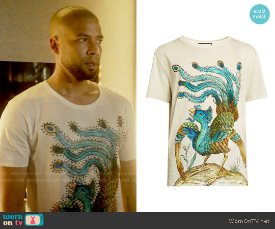 Gucci Peacock T-shirt worn by Jussie Smollett on Empire