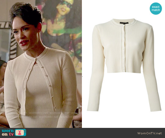 Gucci Ribbed Cardigan worn by Anika Calhoun on Empire