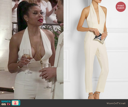 Gucci Halterneck Silk Cady Jumpsuit worn by Taraji P. Henson on Empire
