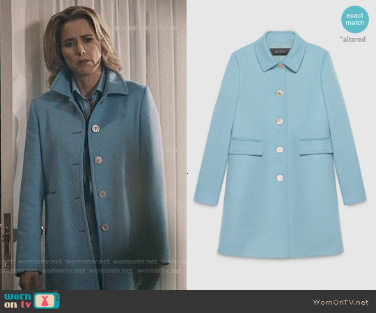 Gucci Single Breasted Wool Coat worn by Téa Leoni on Madam Secretary