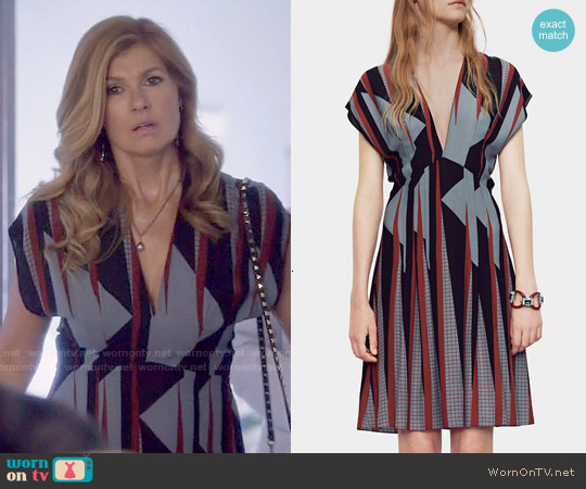 Gucci Triangle Print Silk Dress worn by Connie Britton on Nashville
