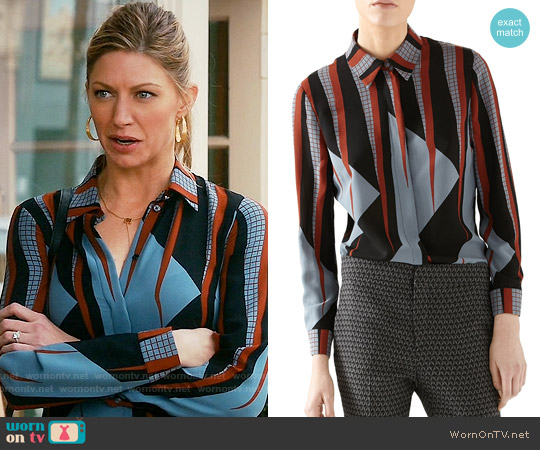 Gucci Triangle Print Shirt worn by Jes Macallan on Mistresses