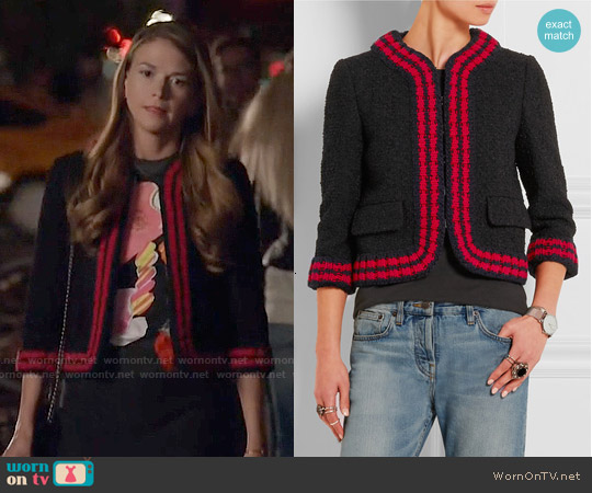 Gucci Cropped Tweed-boucle Jacket worn by Sutton Foster on Younger