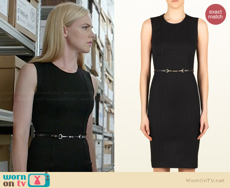 Gucci Viscose Jersey Belted Sleeveless Dress worn by Amanda Schull on Suits