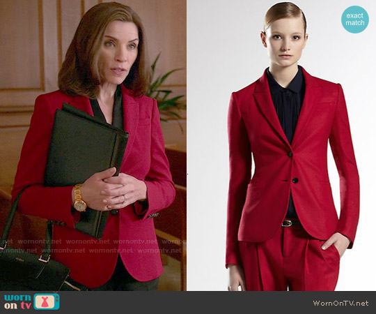 Gucci Wool Blazer worn by Julianna Margulies on The Good Wife