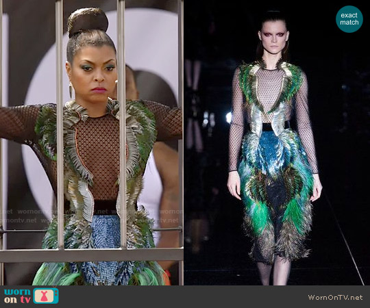 Gucci Fall 2013 Feather Dress worn by Taraji P. Henson on Empire