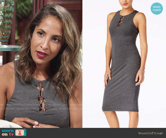 Guess Kim Sleeveless Knit Midi Dress worn by Christel Khalil on The Young & the Restless