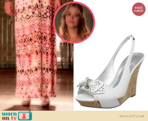 Guess Batiko Wedges worn by Sasha Pieterse on PLL