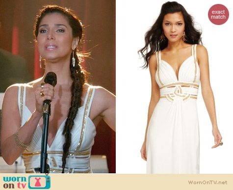 Guess Beaded Cutout Gown in Ivory worn by Roselyn Sanchez on Devious Maids