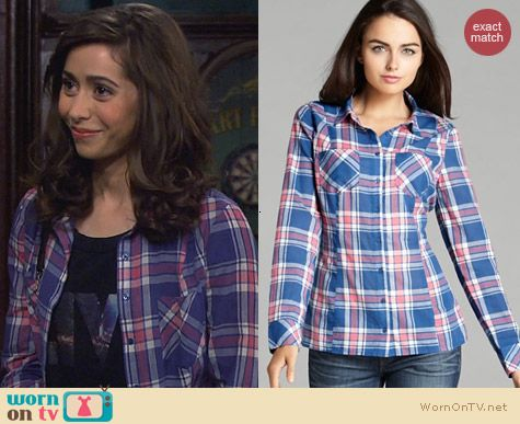 Guess Classic Plaid Shirt worn by Cristin Milioti on How I Met Your Mother