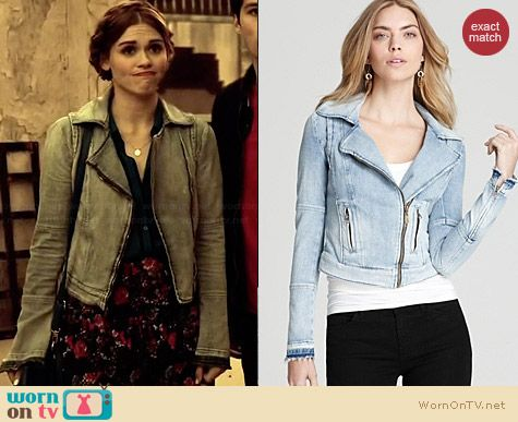 Guess Denim Moto Jacket worn by Holland Roden on Teen Wolf