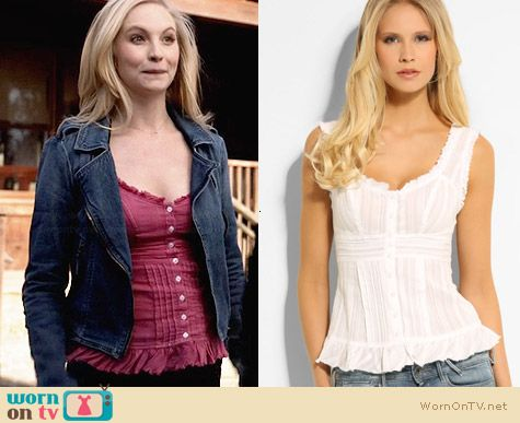 Guess Dobby Top worn by Candice Accola on The Vampire Diaries