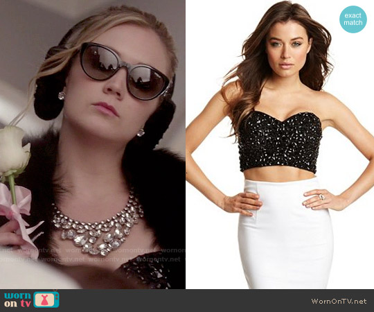 Guess 'Selena' Embellished Bustier worn by Billie Lourd on Scream Queens