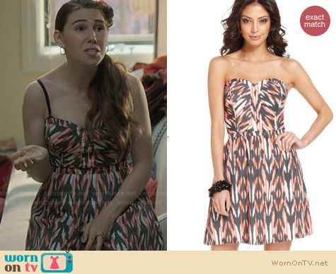 Guess Strapless Sweetheart A-Line Dress worn by Zosia Mamet on Girls