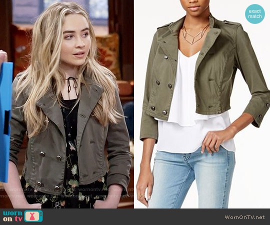 Guess Traveler Cropped Jacket worn by Maya Hart on Girl Meets World