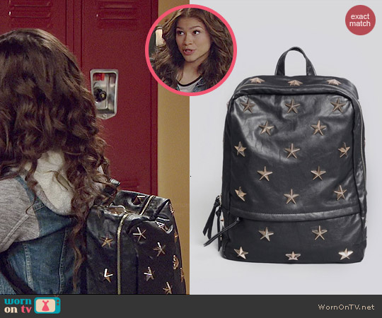 Gypsy Warrior Starstruck Backpack worn by Zendaya on KC Undercover