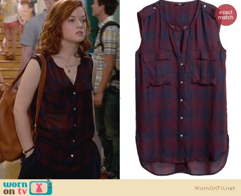 H&M Sleeveless Blouse worn by Tessa Altman on Suburgatory