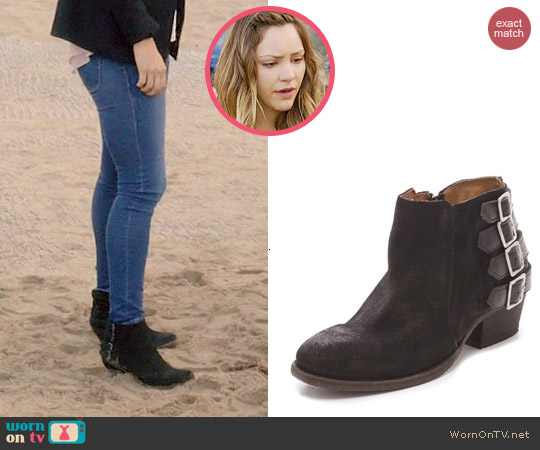 H by Hudson Encke Suede Booties worn by Katharine McPhee on Scorpion