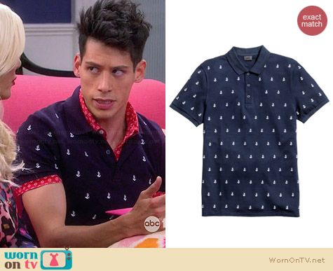 H&M Anchor Polo worn by Miguel Pinzon on Mystery Girls