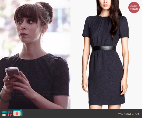 H&M Dress in Textured Fabric worn by Cristin Milioti on A to Z