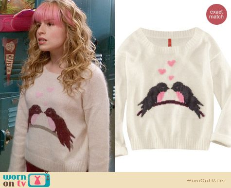 H&M Love Birds Sweater worn by Allie Grant on Suburgatory