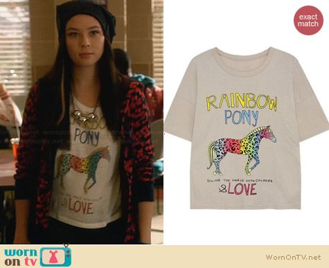 H&M Rainbow Pony Tee worn by Malese Jow on Star-Crossed
