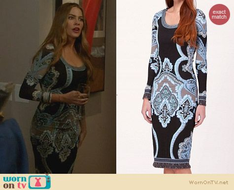 Hale Bob Oksana Dress worn by Sofia Vergara on Modern Family