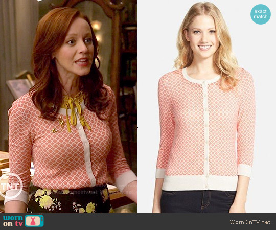 Halogen Three Quarter Sleeve Cardigan worn by Lindy Booth on The Librarians