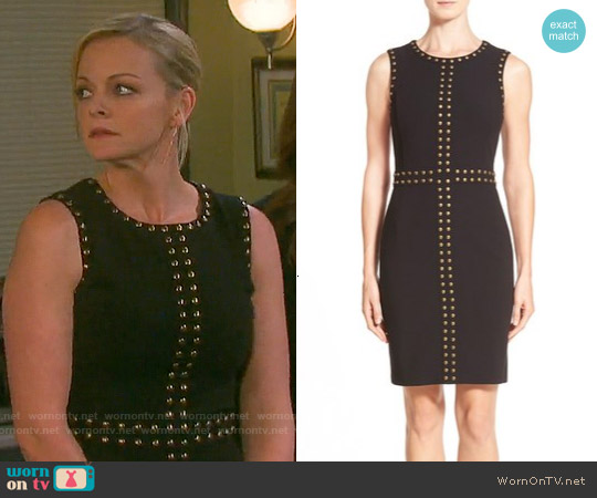 Halogen Studded Sheath Dress worn by Martha Madison on Days of our Lives