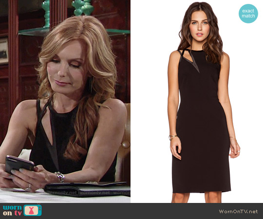 Halston Heritage Asymmetric Cutout Dress worn by Tracey Bregman on The Young & the Restless