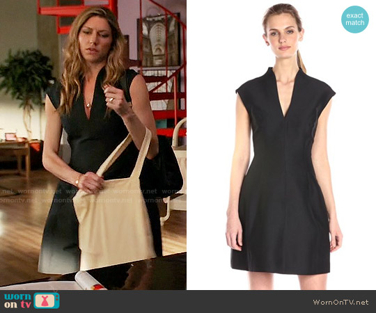 Halston Heritage Cotton and Silk-blend Faille Mini Dress worn by Jes Macallan on Mistresses