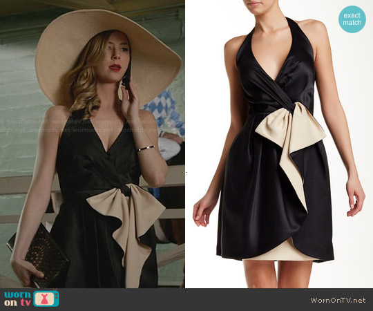 Halston Heritage Bow Detail Halter Dress worn by Emily VanCamp on Revenge
