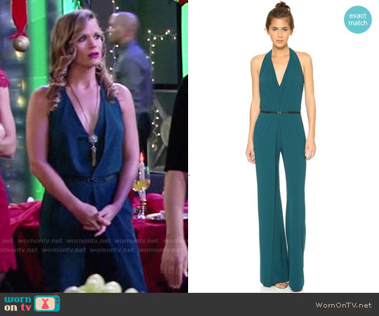 Halston Heritage Halterneck Jumpsuit worn by Melissa Claire Egan on The Young & the Restless