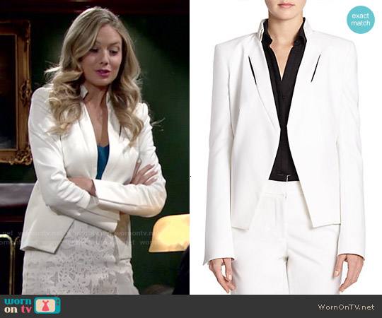 Halston Heritage Inset Detail Jacket worn by Melissa Ordway on The Young & the Restless