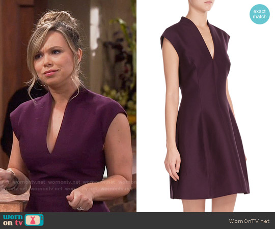 Halston Heritage Cotton Dress worn by Amanda Fuller on Last Man Standing