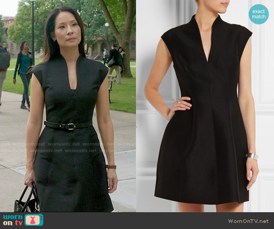 Halston Heritage Cotton and Silk-blend Faille Mini Dress worn by Lucy Liu on Elementary