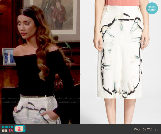 Halston Heritage Silk Midi Skirt worn by Steffy Forrester on The Bold & the Beautiful