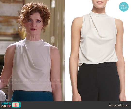 Halston Heritage Sleeveless Cowl Back Top worn by Rebecca Wisocky on Devious Maids