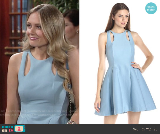 Halston Heritage Structured Dress with Cutout Detail worn by Melissa Ordway on The Young & the Restless