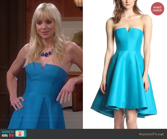 Halston Heritage Strapless Structured Dress worn by Anna Faris on Mom