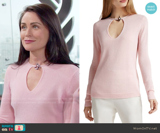 Halston Heritage Toggle Detail Cashmere Sweater worn by Rena Sofer on The Bold & the Beautiful