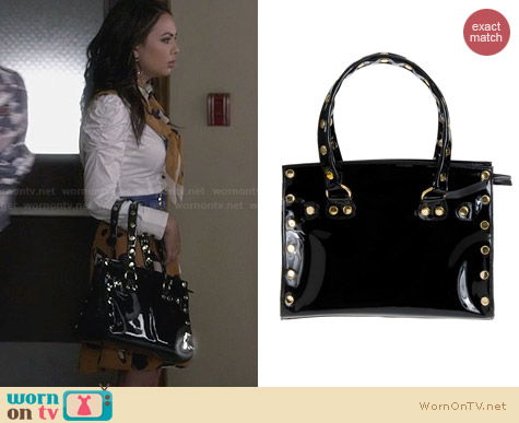 Hammitt Brentwood Satchel worn by Janel Parrish on PLL