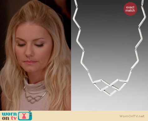 Happy Endings Fashion: Zig Zag necklace by Low Luv x Erin Wasson worn by Elisha Cuthbert