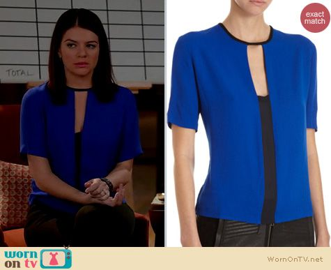 Happy Endings Fashion: A.L.C. Ely top worn by Casey Wilson