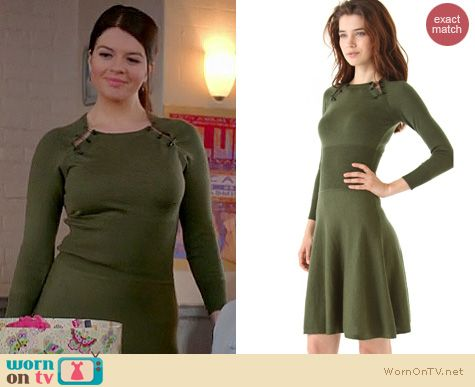 Happy Endings Fashion: Alexander McQueen safety pin peephole dress worn by Casey Wilson