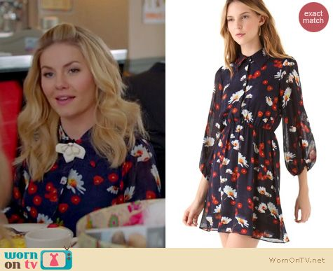 Happy Endings Fashion: Alice & Olivia 'Rebekah' blouson shirtdress worn by Elisha Cuthbert