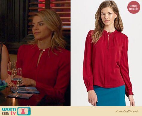 Happy Endings Fashion: Diane von Furstenberg 'Billow' blouse worn by Eliza Coupe