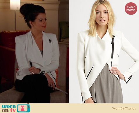 Happy Endings Fashion: Helmut Lang Sugar jacket worn by Casey Wilson