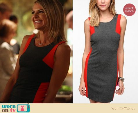 Happy Endings Fashion: Jane wearing Urban Outfitters mini colorblock dress